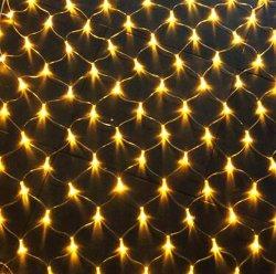 Décoration extérieure imperméable LED blanc froid de petite taille pendaison filets de lumières colorées