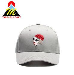 6 Logo personnalisé du panneau de chapeaux de gros sous étiquette privée face Casquette de baseball