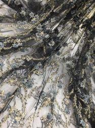 花嫁のための手細工を用いる専門のビーズのレースの刺繍ファブリックデザイン