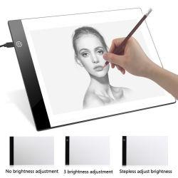 디지털 도표 정제 A4 LED 예술가 얇은 예술 스텐슬 화판 가벼운 상자 추적 쓰기 휴대용 전자 정제 패드