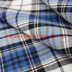 100 tejido de algodón puro tejido de prendas de vestir de sarga de algodón puro textil tejido cuadriculado de la serie