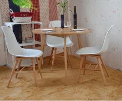 Твердые отделанной деревом ресторанов, один стол с тремя стульями (M-X1025)