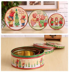 Boîtes de biscuits des conteneurs de cadeau de Noël
