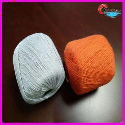 Fancy hilados de algodón de seda hilo mezclado