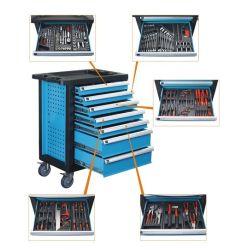 Hilfsmittel-Schrank der Rollen-7-Drawer mit 196 der PCS-Handhilfsmittel-Zusammenstellung
