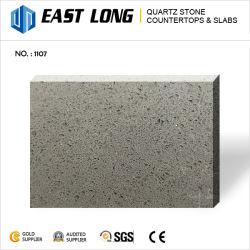キッチンカウンタートップ用グレーのガラス石英石