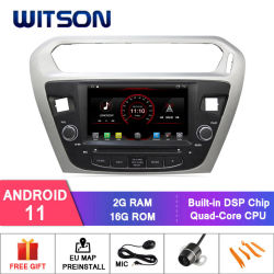 Peugeot 301용 Witson 쿼드 코어 Android 11 차량용 DVD GPS Citroen Elysee CarPlay WiFi 자동 헤드 유닛