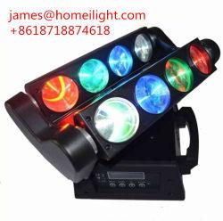 Haz de luz LED de la etapa RGBW moviendo la cabeza de la luz de Ojos de araña de 8 canales DMX512 doble cabeza parte