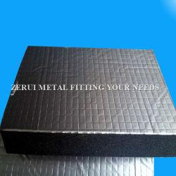 25mm isolation en mousse en caoutchouc feuille à feuille en aluminium