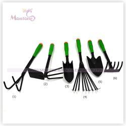 6 PCS Conjunto de herramientas de jardín de acero de carbono (conjunto de herramientas de mano)