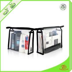 Transparent en PVC étanche portable multifonction clair Sac de maquillage cosmétiques organisateur de voyage sac de lavage de toilette