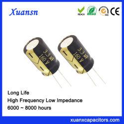 Specifica di alluminio 3.3UF160V del condensatore elettrolitico di lunga vita