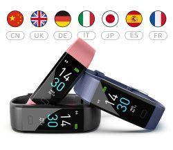 Водонепроницаемая IP68 Smartwatch спорта шаги отчеты браслет Bangle Smart смотреть