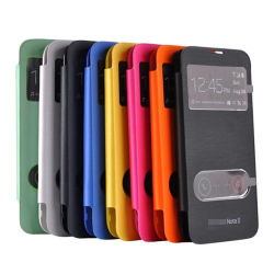 S-View Flip Leather Caso per Samsung Galaxy Note 2 N7100
