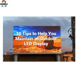 Для использования вне помещений Полноцветный P6-P8 P10 светодиодный индикатор для отображения рекламы на щитах