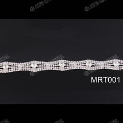 Le métal Rhinestone appliques pour robes de mariage de baguage des ornements applique Mic