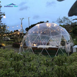 4m Hotsale clair Roof Garden tente igloo Dome maison du restaurant