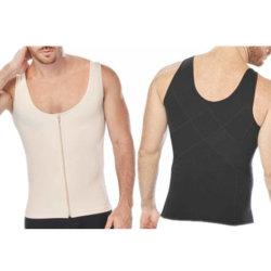 Magliette Uomo All'Ingrosso Da Uomo Forma Top Camicia Addominale Anteriore Zipper Undershirts
