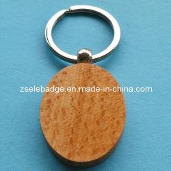 Anello portachiavi di legno ovale personalizzato per la promozione (Ele-K049)