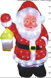L'acrylique Old Man Lumière de Noël avec une lanterne