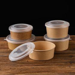 El papel de estraza Snack desechable caja de embalaje de papel creativo Bowl el Envasado de Alimentos Caja de protección del medio ambiente