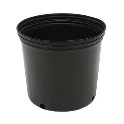 Black negro grande flor de plástico redonda Maceta Jardín Sembradora de 15 Galones Pot