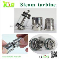 Pure Rebuildable inoxydable réservoir en verre de l'atomizer, turbine à vapeur (turbine à vapeur d'atomiseur)