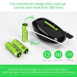 Pila a secco del micro del USB di Shenzhen Smartoools della porta aa della batteria non R6p aa Sum-3 1.5V carbonio ricaricabile dello zinco per la torcia elettrica