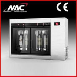 Distributeur du CNA en acier inoxydable de 4 bouteilles de vin (CNA-04C)
