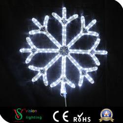 Indicatore luminoso blu di motivo del fiocco di neve LED della decorazione di natale della corda del LED