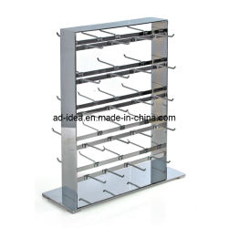 Dos laterales Slatwall Sock Expositor Store Fixtures