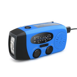 Kampierender Taschenlampen-Kurbel-Radio Hilfsmittel USB-Mini-FM Radio-LED