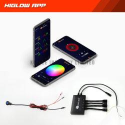 وحدة تحكم عن بعد يتم التحكم فيها عن طريق الهاتف الذكي مع ميزة Color الملاحقة Music Sync لـ مصابيح LED ومصابيح السيارات