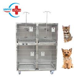 Hc-R015 de alta calidad de acero inoxidable de 2 capas jaulas para animales pequeños animales de compañía perro gato usa