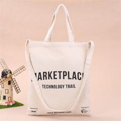 Il sacchetto di Tote del cotone, stampa variopinta promozionale all'ingrosso personalizzata fa pubblicità al sacchetto riutilizzabile riciclabile dell'imbracatura del banco di acquisto del calicò della mussola della tela di canapa con la chiusura lampo