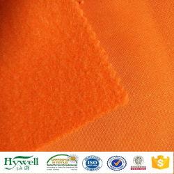 Tessuto arancione del panno morbido della maglietta felpata per Hoodie