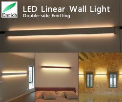 Atenuación de la suspensión lineal LED luces LED, de 95 pulgadas de 60W, arriba y abajo el doble de emisores de luz lateral y compacto diseño moderno para oficina, iluminación de supermercados