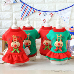 2018 年クリスマスドッグコートペットトナカイクリスマスドレス衣装衣装
