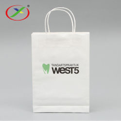 Sos коричневый крафт-Shopper магазинов с Логотип проведите рукой всей нижней части портативного мешки для обычной бумаги