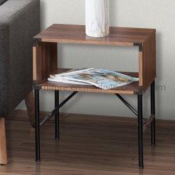 Innenministerium-Möbel-hölzerner Walnuss-Farben-Enden-Tisch (Felder 1 Sets zwei)