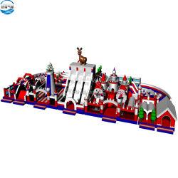 Piscina inflable gigante Navidad Santa Claus tema parque de atracciones hinchables 36x15m en venta