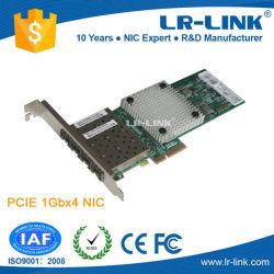 Разъем PCI Express x4 Quad 4 порта SFP гигабитных серверных сетевых адаптера сетевой карты (Intel I350 на основе)