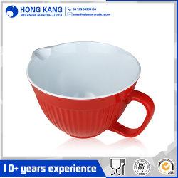 2 ПК на два тона меламина чаше для смешивания с помощью рукоятки