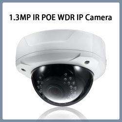 Dome de 1,3 MP segurança WDR rede CCTV Câmara IP de Vigilância por vídeo