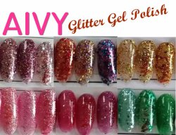 Populaires brillant UV Gel Nail Art Glitter polonais de gel