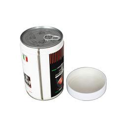 중국 공장 커피 포장 상자 차 틴캔 라운드 메탈 상자