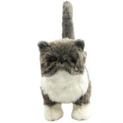 35cm Fuzzy Gray의 부드러운 동물 박제 토이 요리 고양이 플러쉬