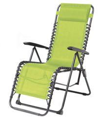Plegado al aire libre Camping Playa de reclinador de Gravedad Cero silla con almohada