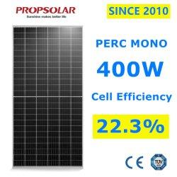Confiabilidade de um grau fotovoltaica Perc constituídos 400W PV a energia solar Painel de Energia módulos com o Melhor Preço