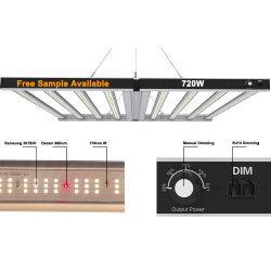 8개 바 720W Lm301 LED Grow Light 1000W Quantum 평균 Well Driver 3500K Indoor Grow